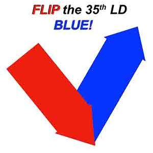 Flip the 35th LD BLUE!